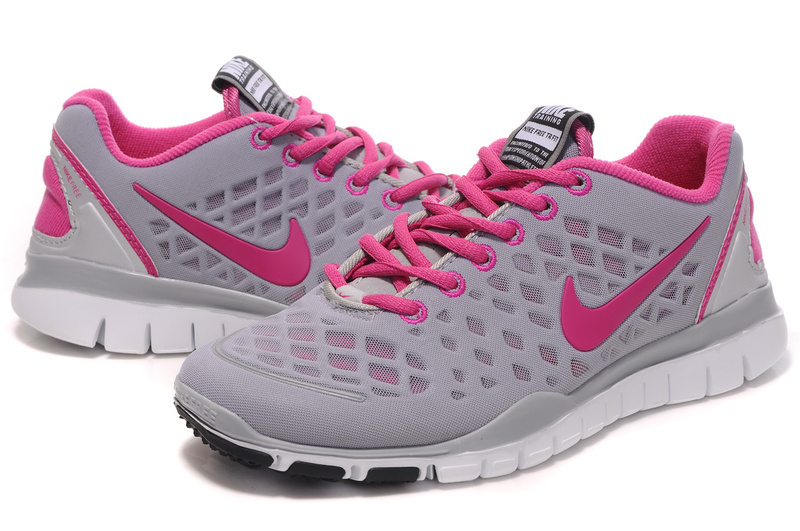 2012 Nike Free LiNa Traing Shoes Grey Pink White
