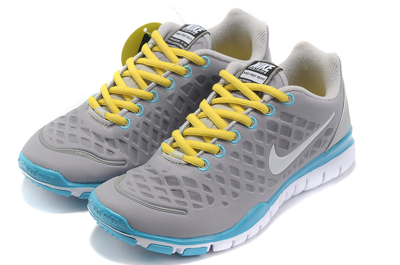 2012 Nike Free LiNa Traing Shoes Grey Yellow Blue White