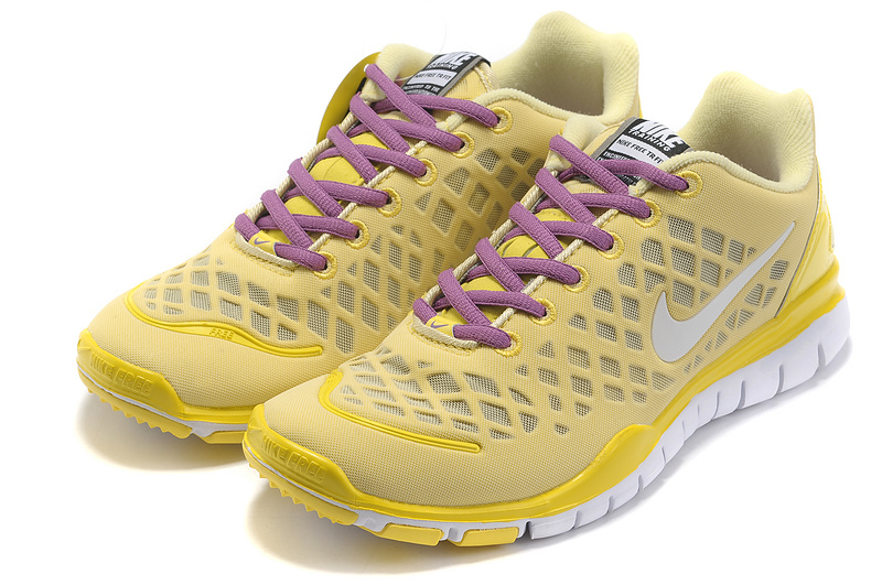 2012 Nike Free LiNa Traing Shoes Yellow Purple White