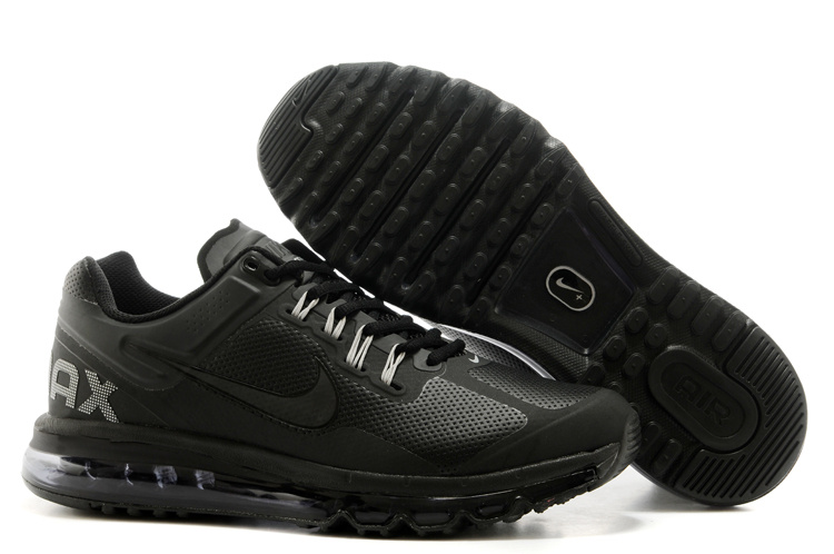 Nike Air Max 2013 All Black Running Shoes