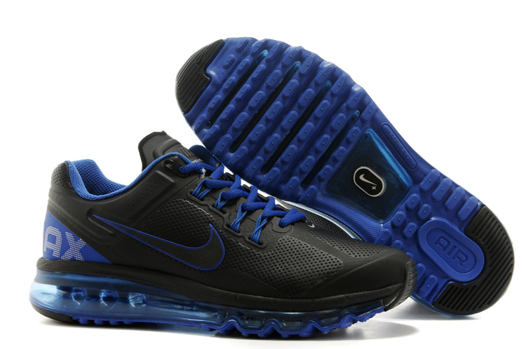 Nike Air Max 2013 Black Blue Running Shoes