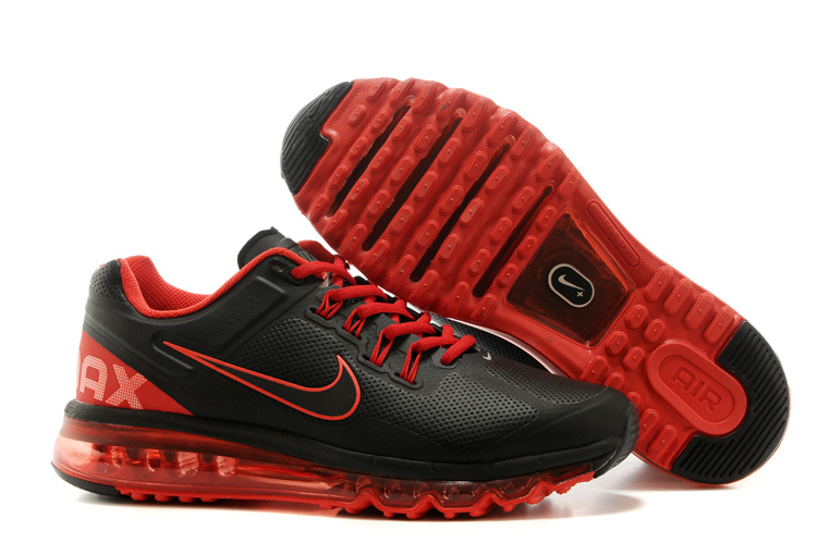 Nike Air Max 2013 Black Red Running Shoes