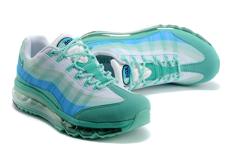 2013 Nike Air Max 95 Green Blue Women Shoes