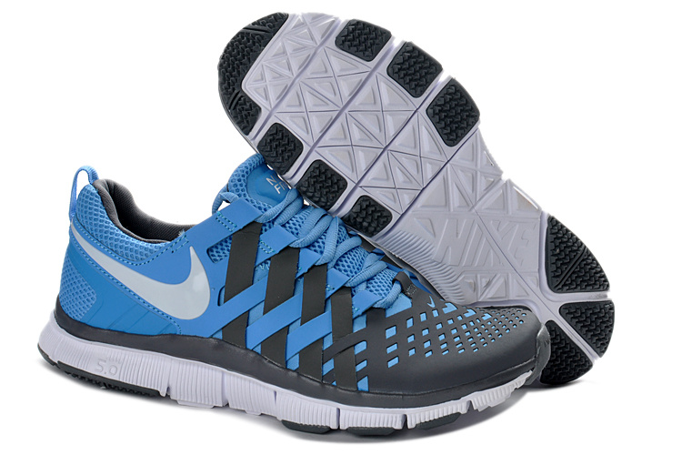 2ae57a393480d Nike Free 5.0 Blue Grey Running Shoes