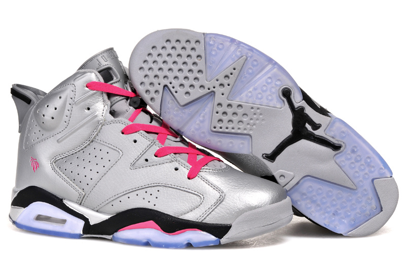 2014 Cheap Air Jordan 6 Retro Valentines Day Metallic Silver Vivid Pink Black For Sale