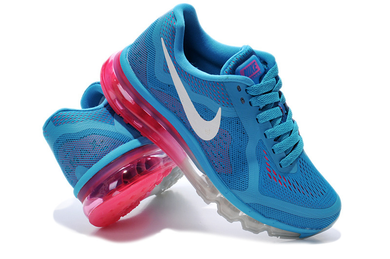 Nike Air Max 2014 Shoes Blue White Pink For Women