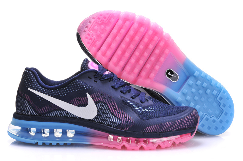 Nike Air Max 2014 Shoes Dark Blue Pink For Women
