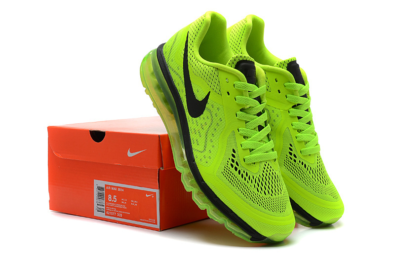 Nike Air Max 2014 Green Black Lovers Shoes