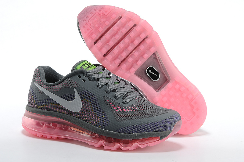 Nike Air Max 2014 Shoes Grey Pink For Women