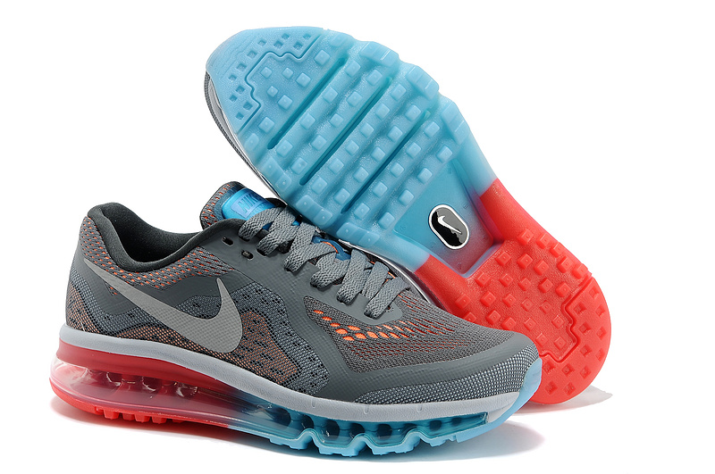 Nike Air Max 2014 Shoes Grey White Blue Red For Women