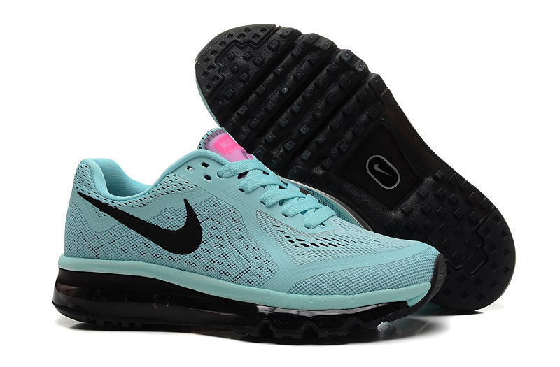Nike Air Max 2014 Shoes Light Green Black For Women