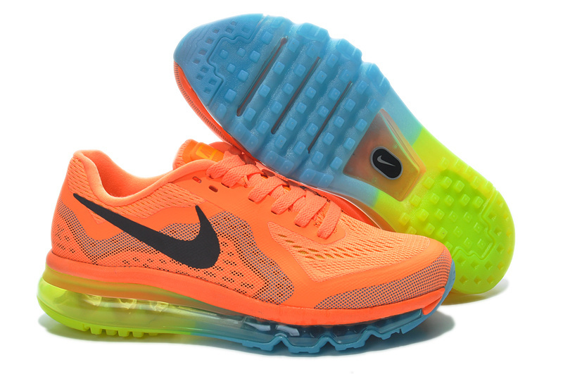 Nike Air Max 2014 Shoes Orange Blue Yellow For Women
