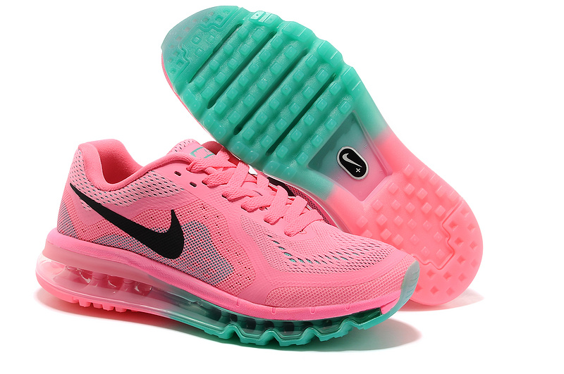 Nike Air Max 2014 Shoes Pink Green For Women