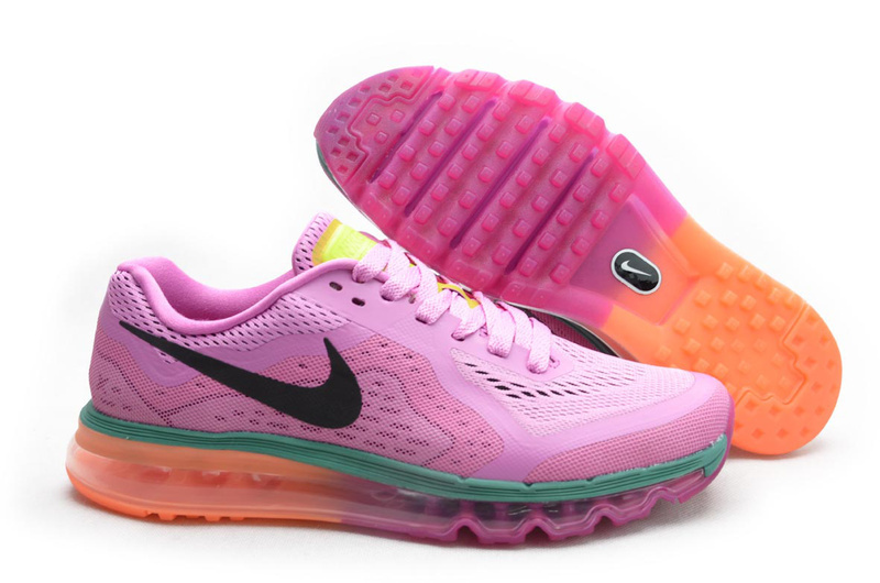 Nike Air Max 2014 Shoes Pink Orange For Women