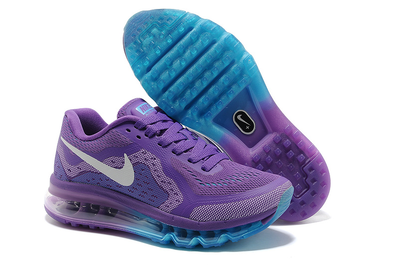 Nike Air Max 2014 Shoes Purple Blue For Women