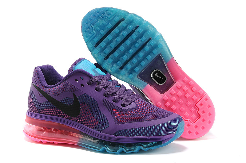 Nike Air Max 2014 Shoes Purple Blue Pink For Women