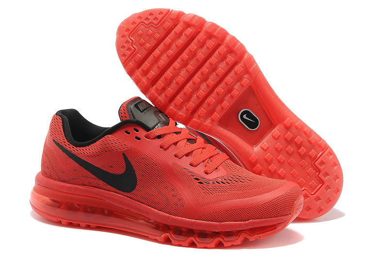 Nike Air Max 2014 Shoes Red Black For Women