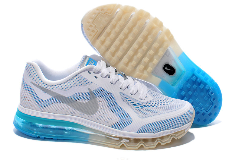 Nike Air Max 2014 Shoes White Baby Blue For Women