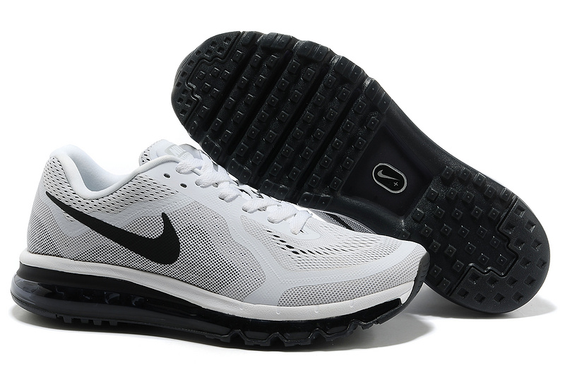 Nike Air Max 2014 Shoes White Grey Black For Women