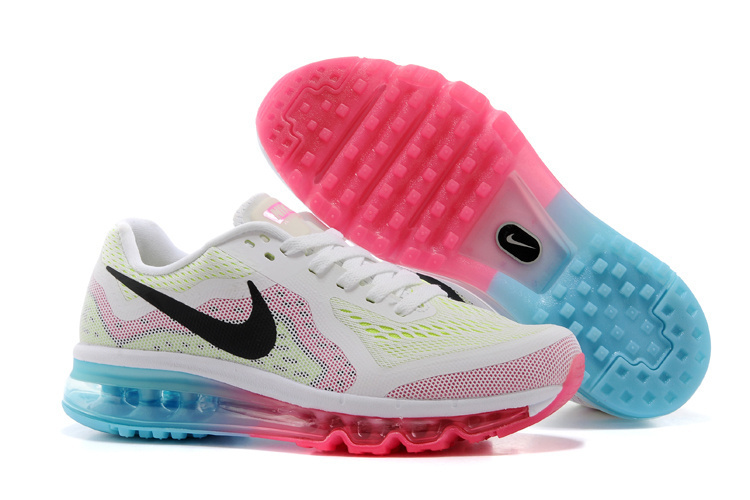 Nike Air Max 2014 Shoes White Pink Black Blue For Women