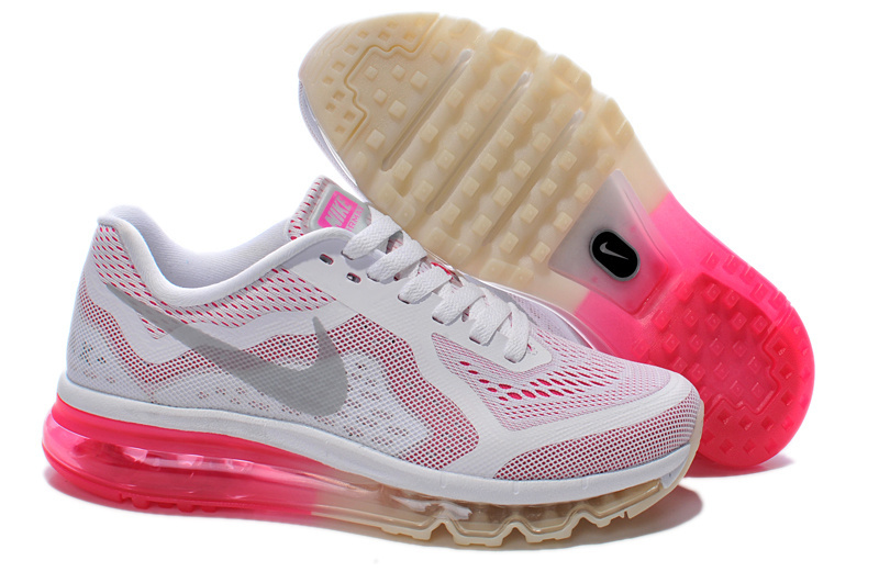 Nike Air Max 2014 Shoes White Pink Grey For Women