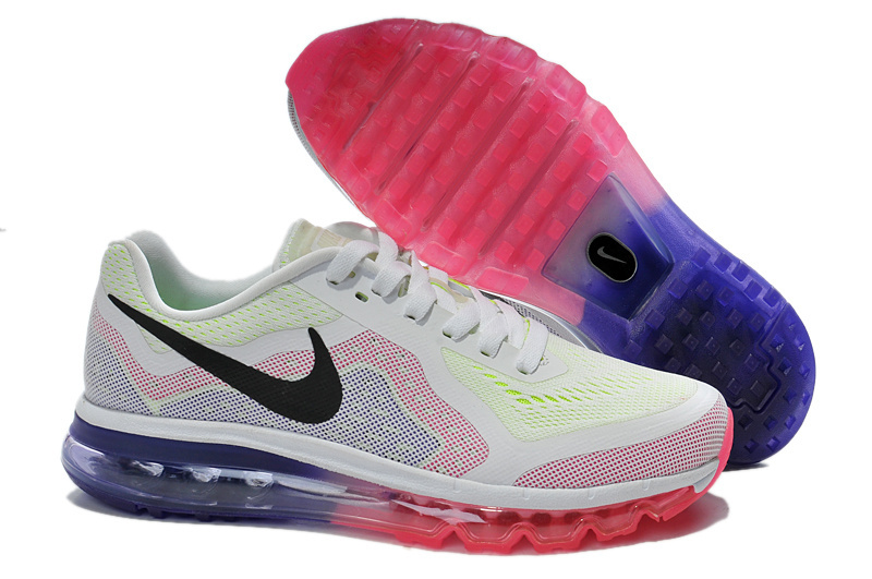 Nike Air Max 2014 Shoes White Pink Purple For Women