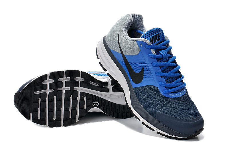 2014 Women Nike Air Pegasus+30 Blue Grey Running Shoes