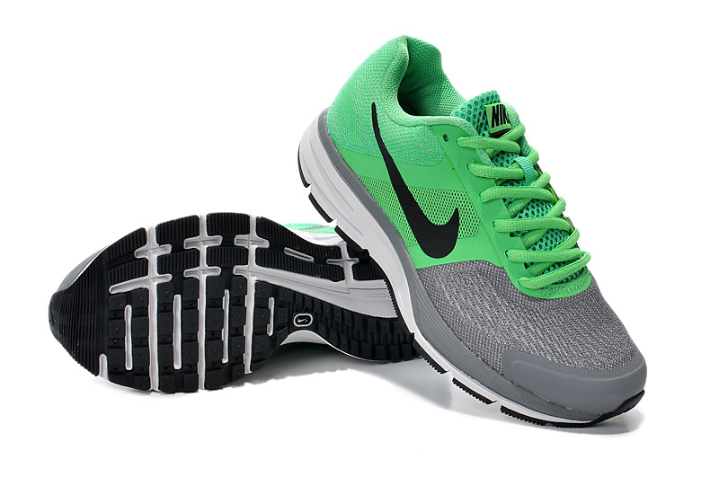 2014 Women Nike Air Pegasus+30 Green Grey Running Shoes
