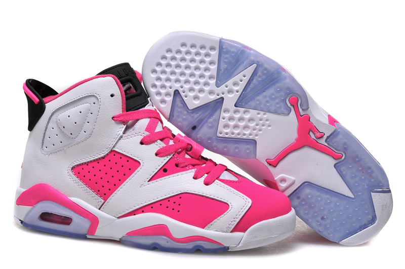 more photos 7385c 4f36b 2015 Air Jordan 6 GS White Pink Shoes For Sale