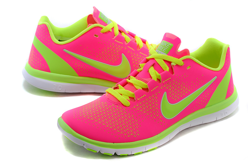2015 Nike Free 3.0 Pink Fluorscent Green Running Shoes