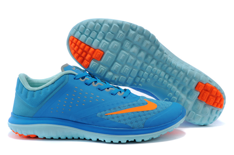 on sale 04544 9862c 2015 Nike Free 5.0 V2 Blue Orange Running Shoes