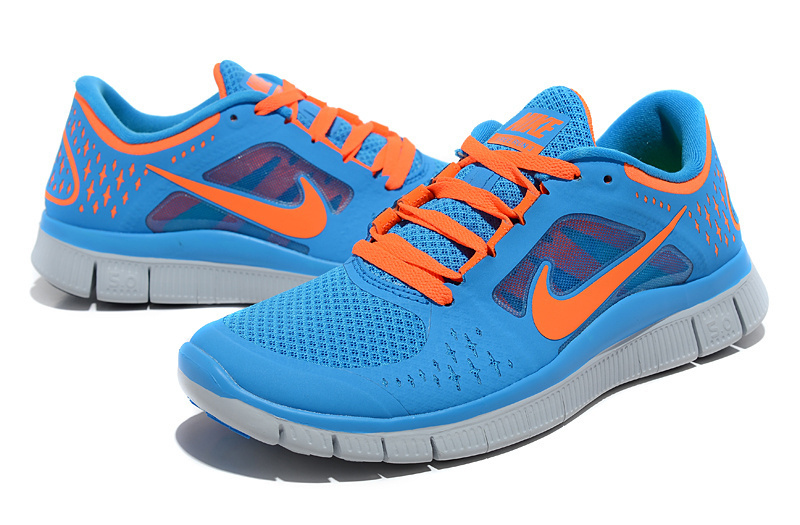 Nike Free 50 2 Running Shoes Bbay Blue Orange