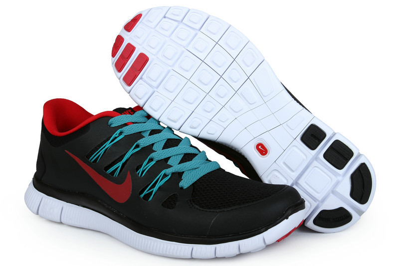 Nike Free 5.0 +2 Running Shoes Black Green Red