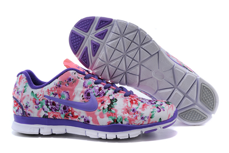 2015 Nike Free 50 Bird Net Purple Orange Shoes For Women