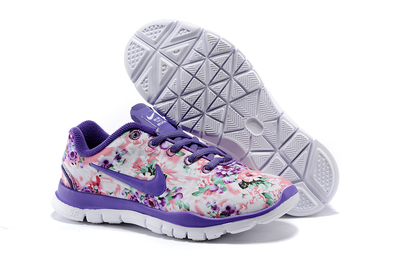 2015 Nike Free 50 Bird Net Purple White Shoes For Women
