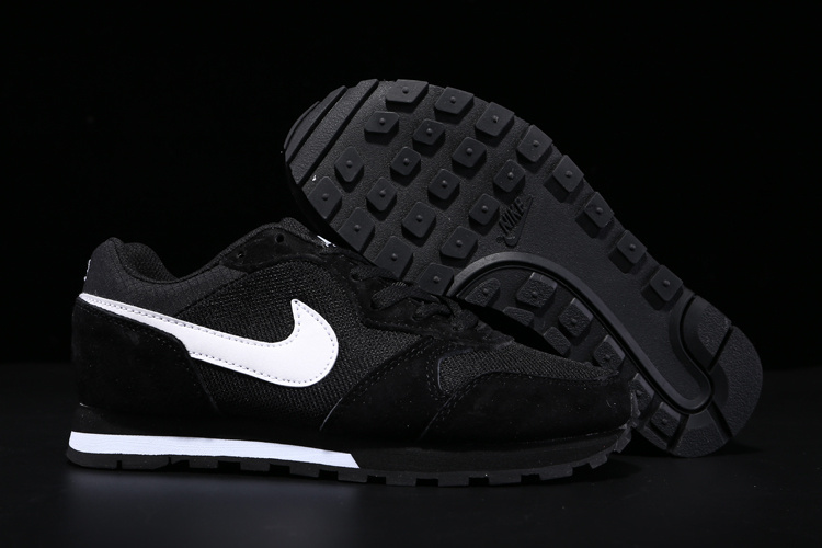 2015 Nike MD Runner All Black White Shoes