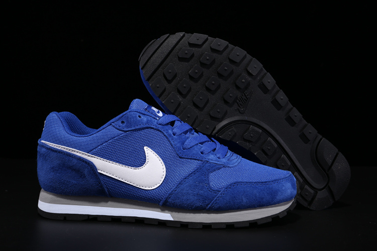 2015 Nike MD Runner All Blue White Shoes