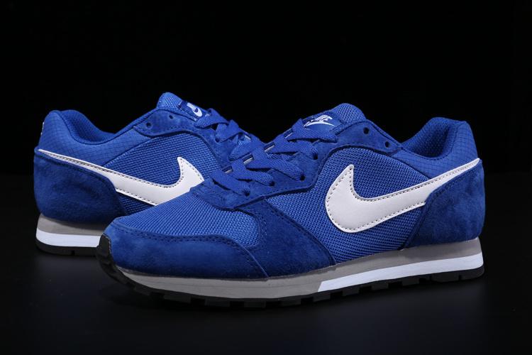 2015 Nike MD Runner All Blue White Shoes