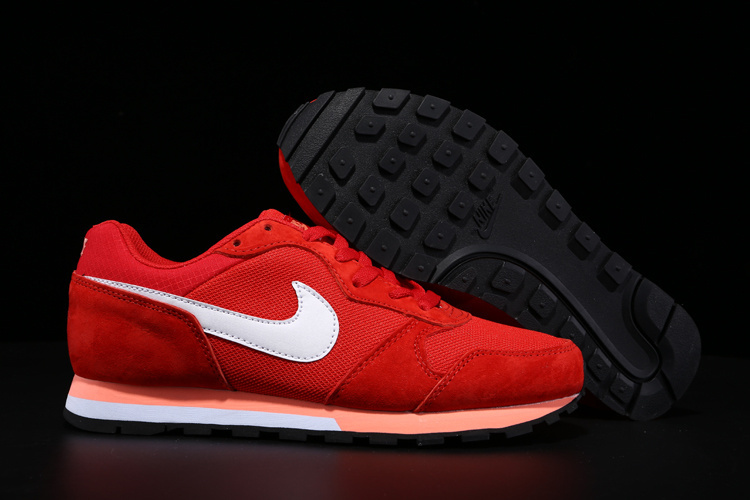 2015 Nike MD Runner All Red White Shoes