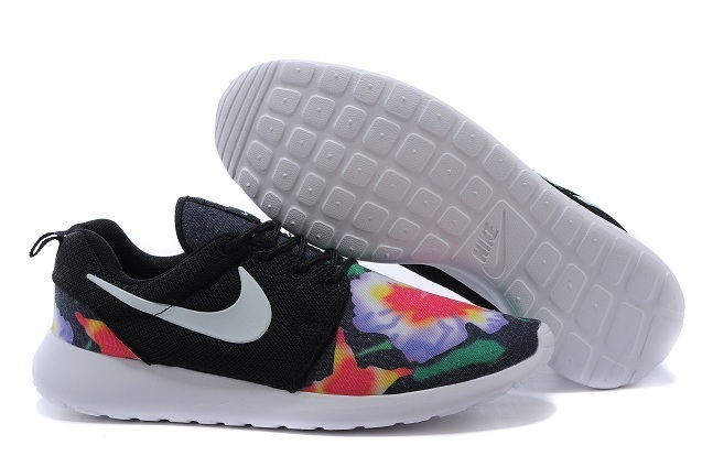 2015 Nike Roshe Run Black Red Green Shoes