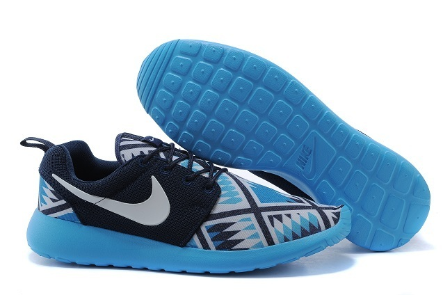 2015 Nike Roshe Run Blue Black Shoes