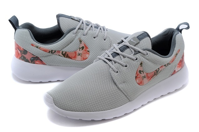 2015 Nike Roshe Run Grey Red Shoes