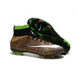 2015 nike men's mercurial superfly fg football cleats green black white multicolor