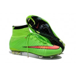 2015 nike men's mercurial superfly fg football cleats green hyper punch black