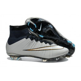 2015 nike men's mercurial superfly fg football cleats metallic silver white hyper turq black