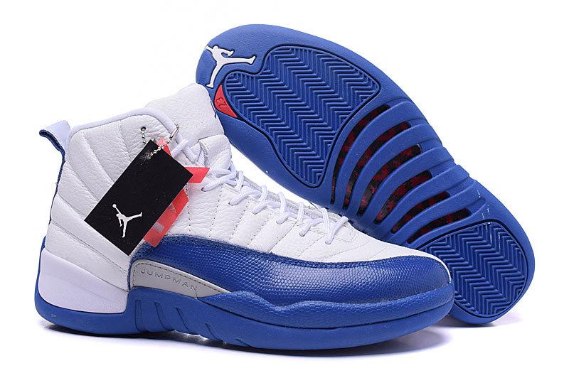 44dd77fe42b 2016 Air Jordan 12 French Blue White French Blue Metallic Silver Varsity Red