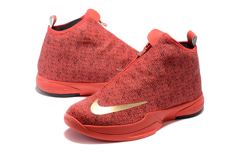 2016 Men Nike Kobe Icon All Red Gold Shoes