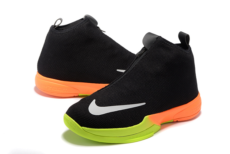 2016 Men Nike Kobe Icon Black Fluorscent Orange Shoes