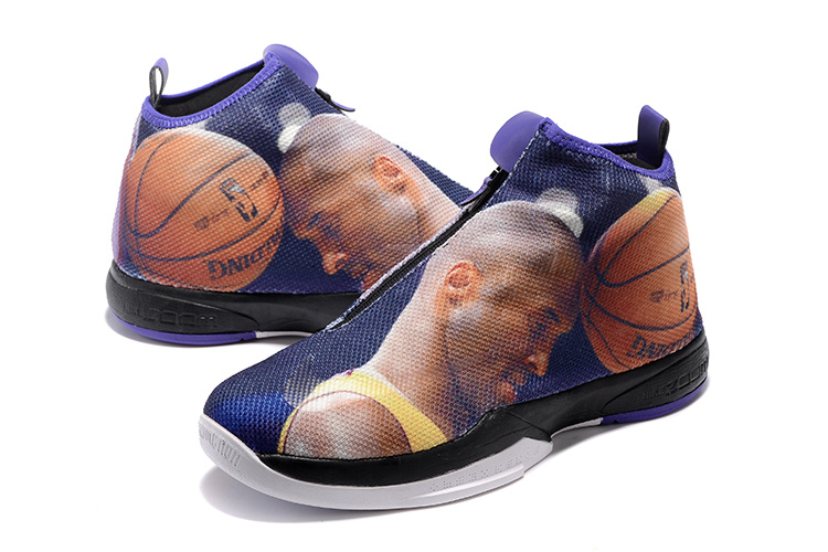 2016 Men Nike Kobe Icon Blue Kobe Print Shoes