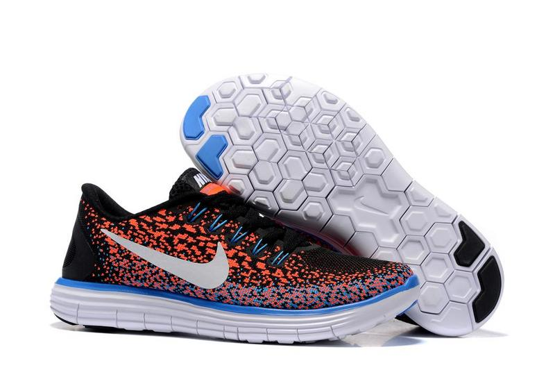 2016 Nike Free DN Distance Black Orange Blue White Women Shoes